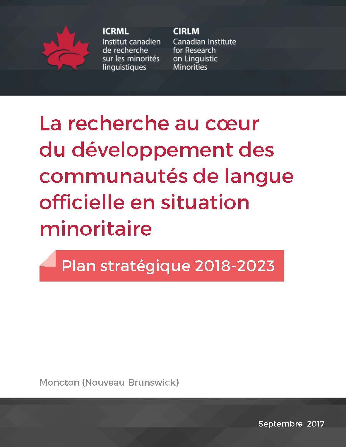 Pages de Plan ICRML 2018 2023
