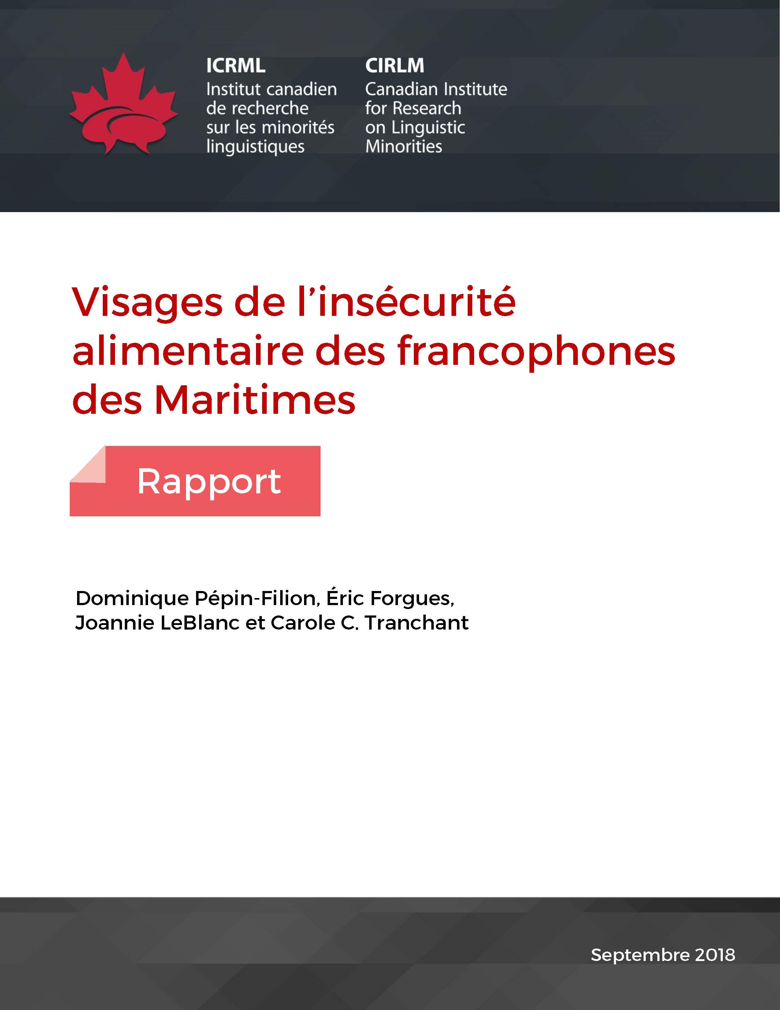 Visages de l insécurité alimentaire des francophones des Maritimes 29cc7b4b9fb7